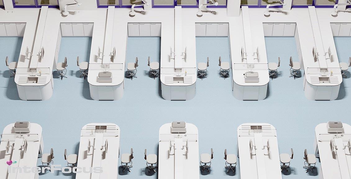 Laboratory CAD Design layout 3D