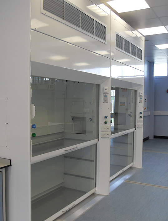 large walk in fume cupboard