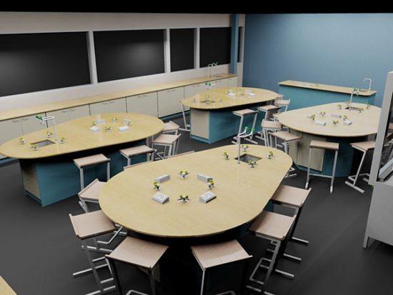 science classroom render