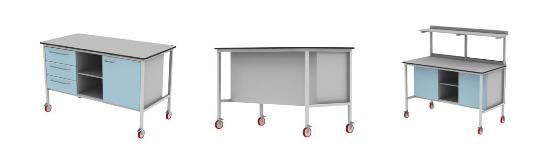 mobile benches and trolleys