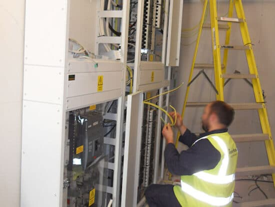 electrical installation for a laboratory