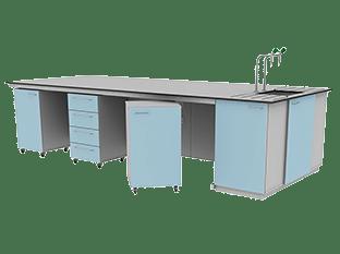 under bench laboratory furniture