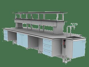 suspended laboratory furniture range