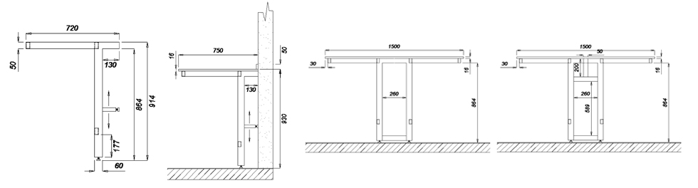 cantilever frame dimensions
