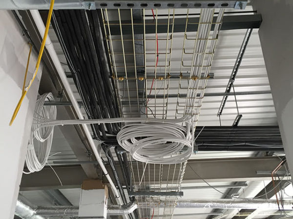 laboratory cabling installation