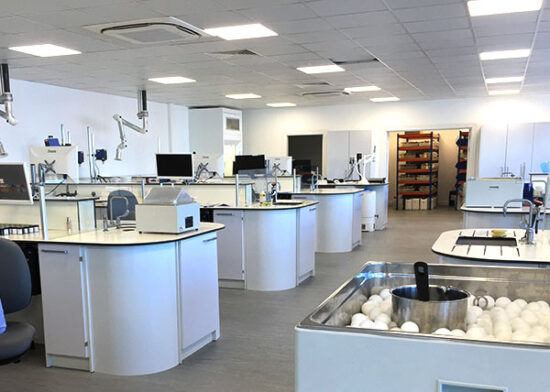 laboratory furniture installation after concept design