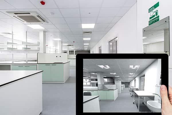 Laboratory design and visualisation using an iPad