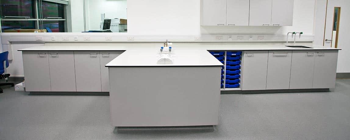 laboratory worktops | Trespa | Velstone | Iroko | Lab 20