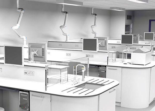 lab design 3D renders