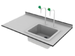 drop on sink