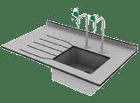 underslung sink