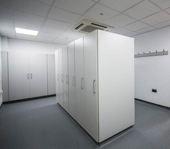 tall laboratory storage units