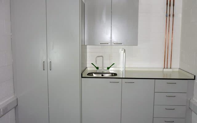 Lab sink and storage