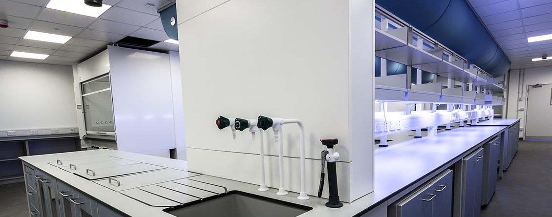 research laboratory sink unit