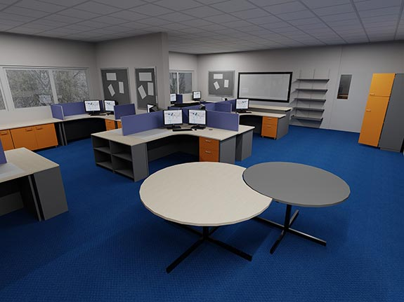 office 3D layout