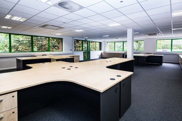 large office furniture installation