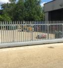 Laboratory security gate installation