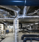 finished mechanical and electrical plant room