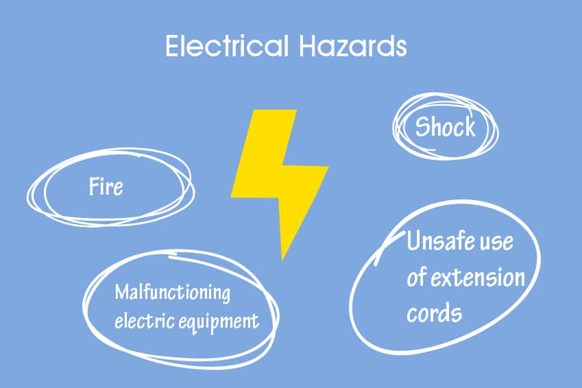electrical hazards and risks in a lab